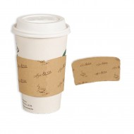 12oz kraft paper cup cover-coffee & tea 1000pcs