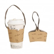 Ear cup holder (with strap) -coffee & tea 1000pcs