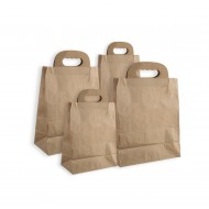 Leather handle and round tote  25pcs  bag