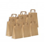 Kraft paper tote bag  25pcs  pack