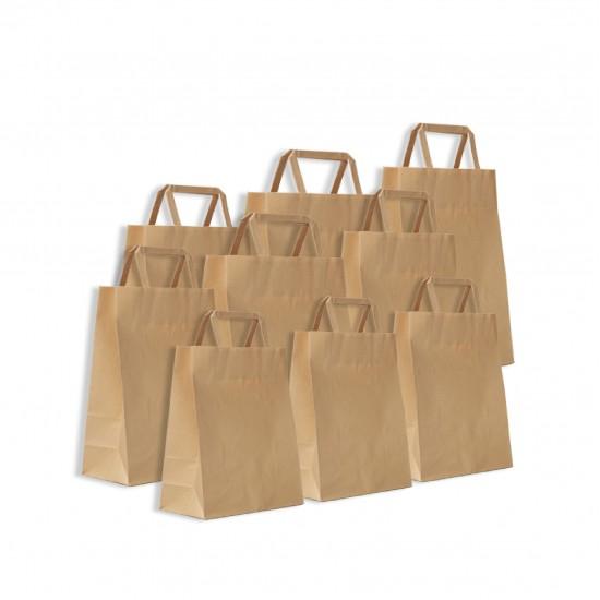 Kraft paper tote bag  25pcs  pack