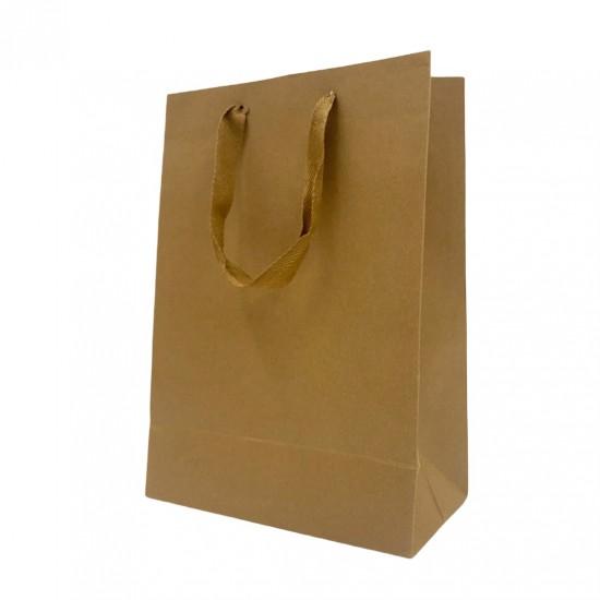 直式牛皮緞帶提袋|25入/包|
