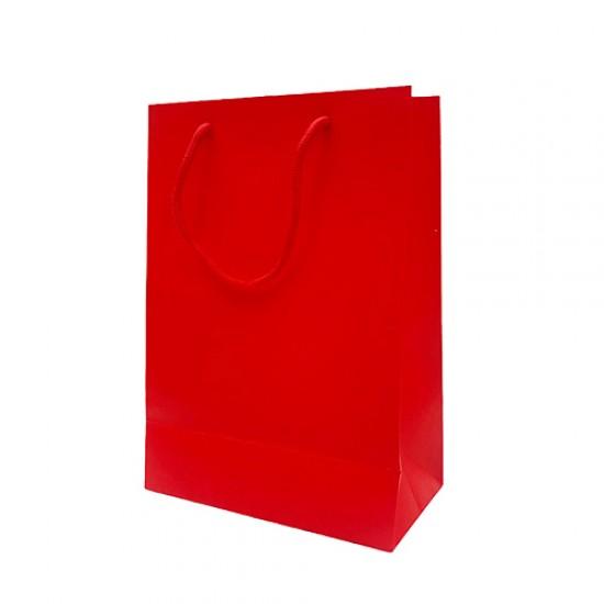 直式紅色厚卡提袋|25入/包|