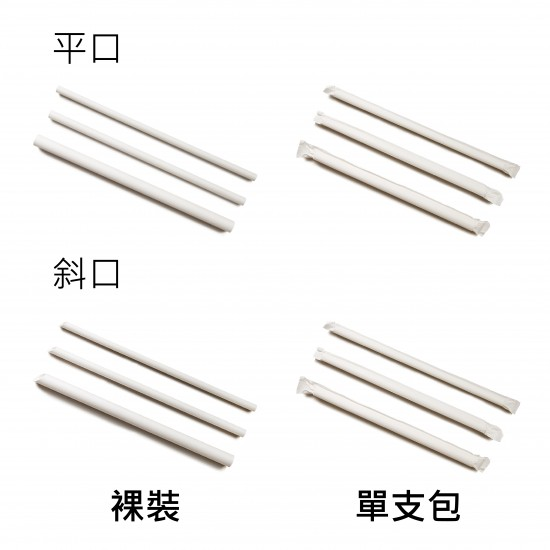 No. 6 paper straw 0.6x21cm (long)  Carton