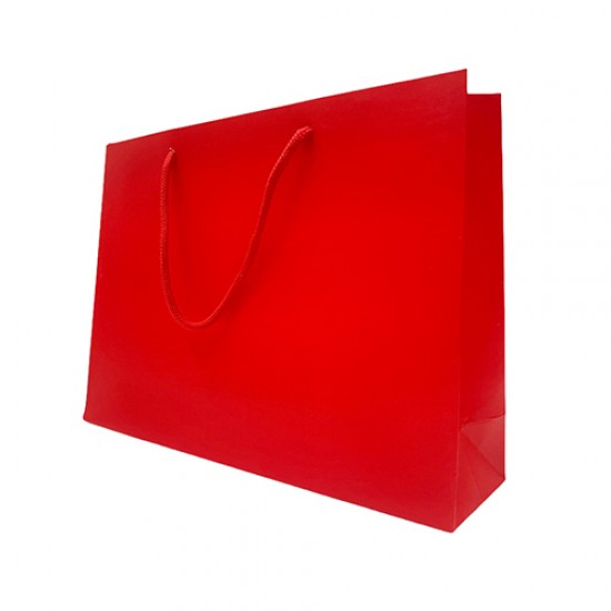 橫式紅色厚卡提袋|25入/包|