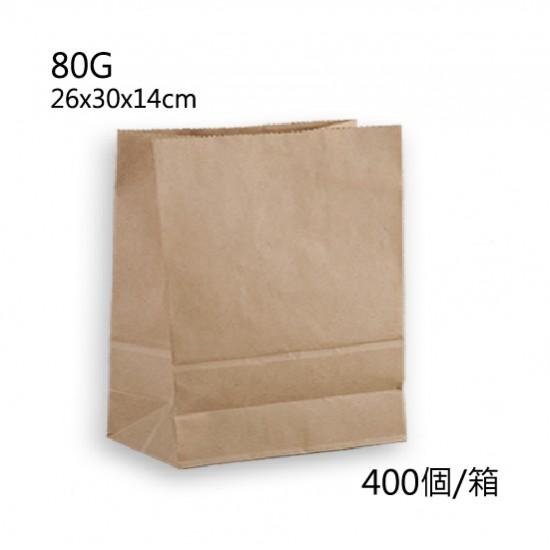 80G牛皮直式立體紙袋/箱