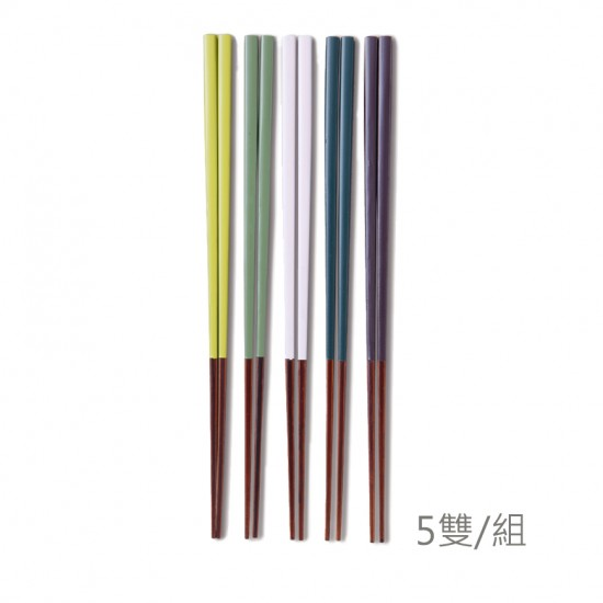 5 pairs of Japanese solid wood chopsticks