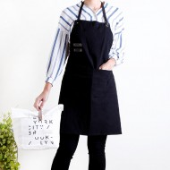 Custom apron printing Washed cotton and linen PU adjustable belt apron| Tricolor