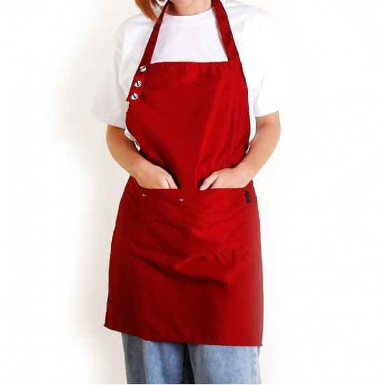 Customized Apron Prints Polyester Cotton Single Buckle Neck Apron | Tricolor