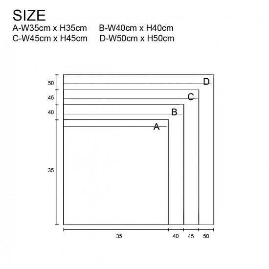 35G non-woven dust bag | black | 100 pieces/bag
