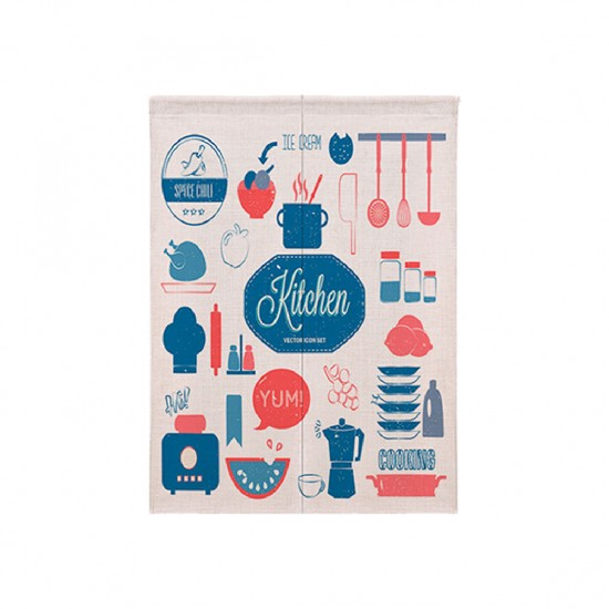 Pre-order curtains   Pots and pans doodle   Fabric curtains