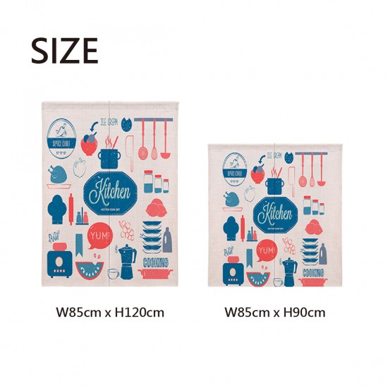 Pre-order curtains | Pots and pans doodle | Fabric curtains