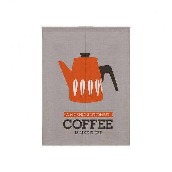 Pre-order curtains | Orange coffee pot | Fabric curtains