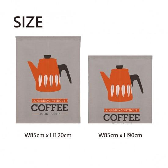 Pre-order curtains | Orange coffee pot | Fabric curtains