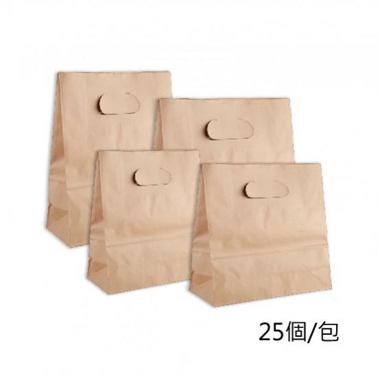 80G牛皮挖孔紙袋| 25個/包