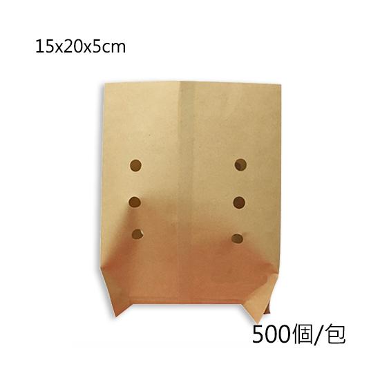 防油小吃打洞紙袋15X20|500個/包