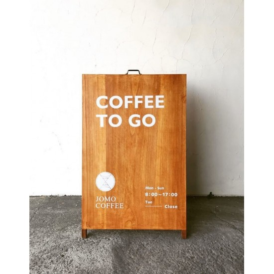 Large solid wood site A signboard
